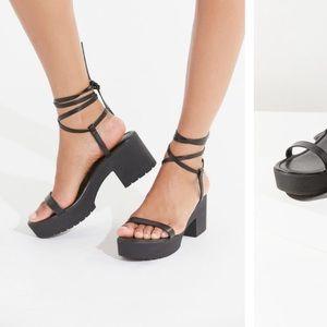 UO Claire Lace-up Platform Sandal